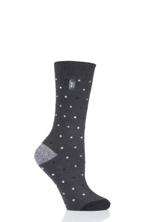 Ladies 1 Pair Heat Holders Ultra Lite Spots Socks