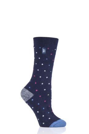 Ladies 1 Pair Heat Holders Ultra Lite Spots Socks
