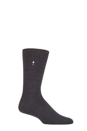 Mens 1 Pair SOCKSHOP Heat Holders 1.0 TOG Ultra Lite Plain Socks