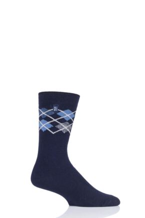 Mens 1 Pair Heat Holders Ultra Lite Argyle Socks