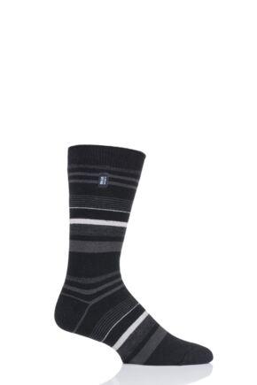 Mens 1 Pair Heat Holders Ultra Lite Stripe Socks