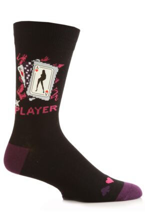 Mens 1 Pair SockShop Dare To Wear Novelty Socks - Player