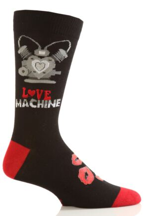 Mens 1 Pair SockShop Dare To Wear Novelty Socks - Love Machine