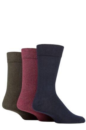 Mens 3 Pair SOCKSHOP TORE 100% Recycled Plain Cotton Socks