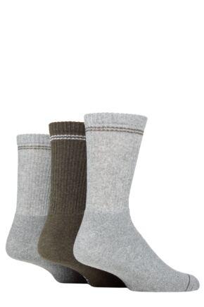 Mens 3 Pair SOCKSHOP TORE 100% Recycled Fashion Cotton Sports Socks