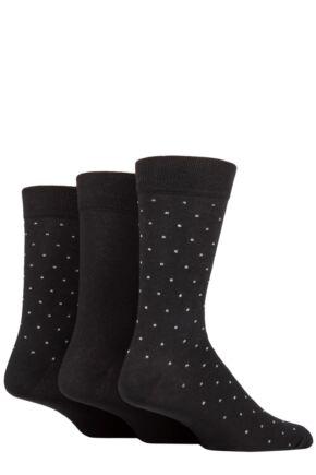 Mens 3 Pair SOCKSHOP TORE 100% Recycled Pin Dot Cotton Socks