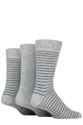 Mens 3 Pair SOCKSHOP TORE 100% Recycled Fine Stripe Cotton Socks