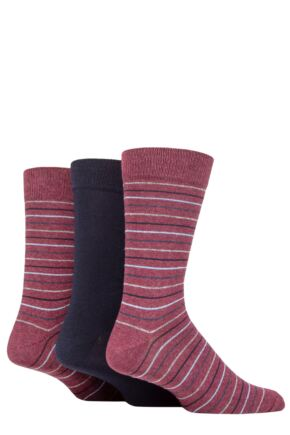 Mens 3 Pair SOCKSHOP TORE 100% Recycled Multi Stripe Cotton Socks