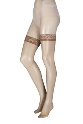 Ladies 1 Pair Oroblu Chic Up 15 Denier Hold Ups