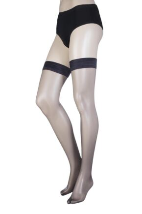 Ladies 1 Pair Oroblu Geo 8 8 Denier Sheer Hold Ups