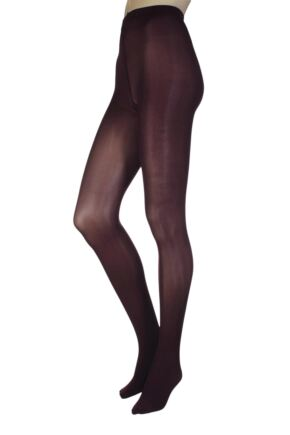 Ladies 1 Pair Oroblu 50 Denier All Colours Opaque Tights Bordeaux Large / Extra Large