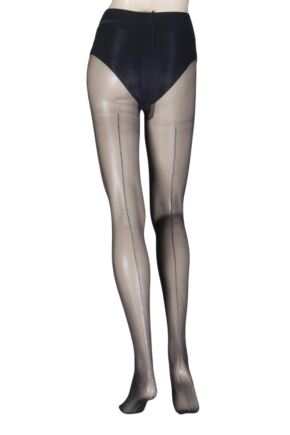 Ladies 1 Pair Oroblu Riga 20 Denier Back Seamed Tights