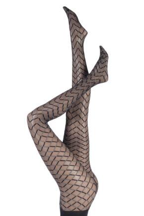 Ladies 1 Pair Oroblu Funny Diamond Knit Tights