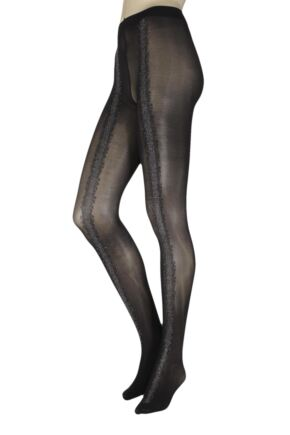 Ladies 1 Pair Oroblu Eloise Sparkle Seam Opaque Tights