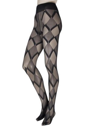 Ladies 1 Pair Oroblu Victoria Diamond Argyle Tights