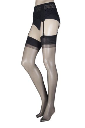 Ladies 1 Pair Oroblu Kit Evita Stockings and Suspender Belt Set