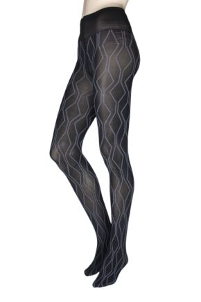 Ladies 1 Pair Oroblu Graphic Tribal 80 Denier Tights