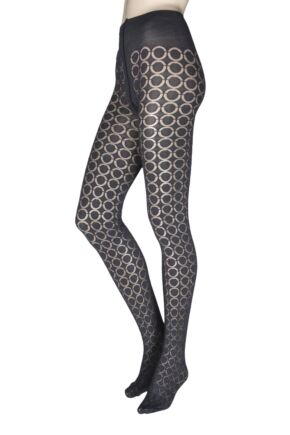 Ladies 1 Pair Oroblu Graphic Loop 80 Denier Tights