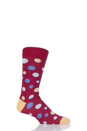Mens 1 Pair Viyella Bubbles Patterned Cotton Socks