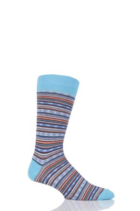 Mens 1 Pair Viyella Fairisle Patterned Cotton Socks