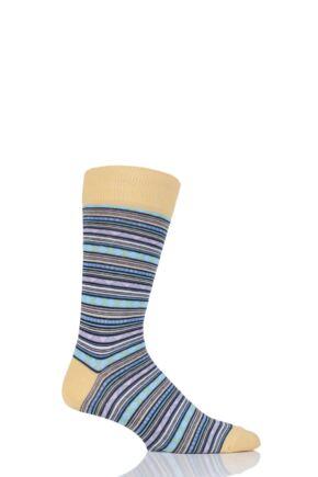 Mens 1 Pair Viyella Fairisle Patterned Cotton Socks
