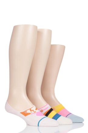 Ladies 3 Pair Stance Corita Cotton No Show Socks