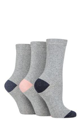 Ladies 3 Pair SOCKSHOP TORE 100% Recycled Heel and Toe Cotton Socks