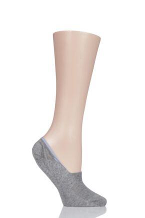 Ladies 1 Pair Pantherella Plain Egyptian Cotton Invisible Socks