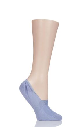 Ladies 1 Pair Pantherella Plain Egyptian Cotton Invisible Socks Pale Lilac 4-7 Ladies