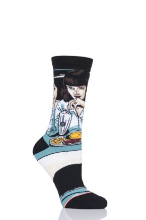 Ladies 1 Pair Stance Quentin Tarantino Collection Mia Booth Pulp Fiction Socks