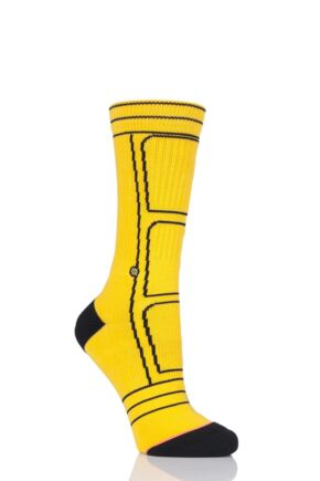 Ladies 1 Pair Stance Quentin Tarantino Collection Kill Bill Bride Jacket Socks Yellow 6-8.5 Ladies
