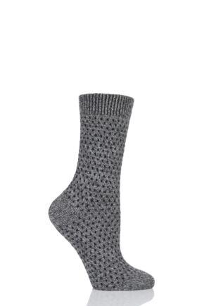 Ladies 1 Pair Pantherella Dotty 85% Cashmere Socks