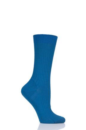 Ladies 1 Pair Pantherella Classic Merino Wool Ribbed Socks