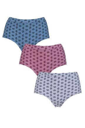 Ladies 3 Pair Thought Sprig Bamboo and Organic Cotton Briefs Gift Box