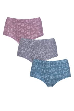 Ladies 3 Pair Thought Dee Bamboo and Organic Cotton Briefs In Gift Box