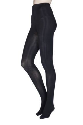 Ladies 1 Pair Thought Sara Recycled Nylon Opaque Tights