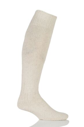 Mens 1 Pair Workforce Wool Rich Protective Angling Socks Cream