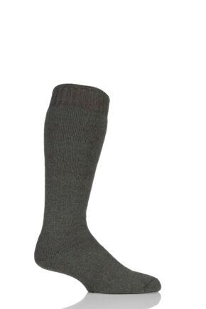 Mens 1 Pair Workforce Wellington Boot Socks Green