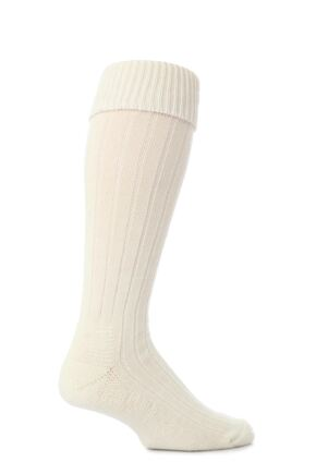 Mens 1 Pair Workforce Rigger Boot Socks In Cream