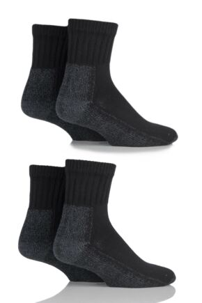 Mens and Ladies 4 Pair Workforce Safety Trainer Socks