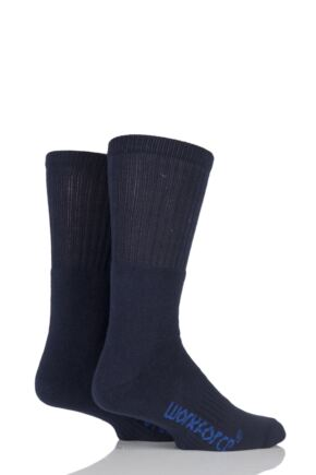 Mens 2 Pair Workforce Cushion Foot Cotton Work Socks