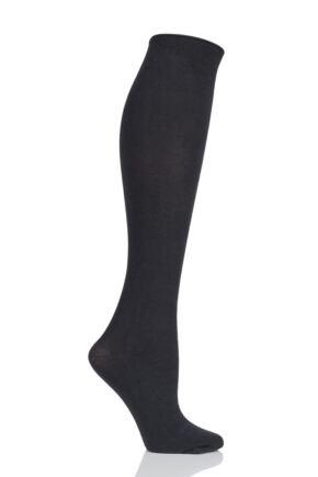 Ladies 1 Pair Trasparenze Wilma 90 Denier Cotton Knee High Socks
