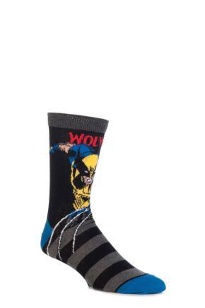 c171039f383a Mens SockShop Marvel Comics Mix Hulk, Spider-Man, Iron Man and Wolverine  Socks