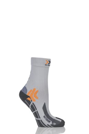 Mens 1 Pair X-Socks Outdoor Heavy Weight Trekking Socks Pearl Grey 8-9.5