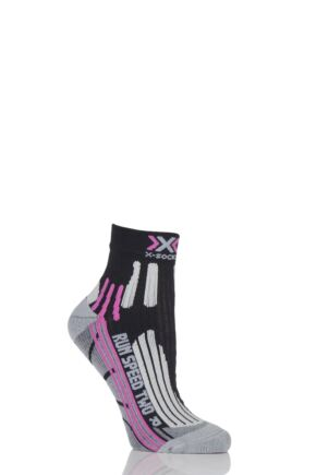 Ladies 1 Pair X-Socks Run Speed Two Running Socks