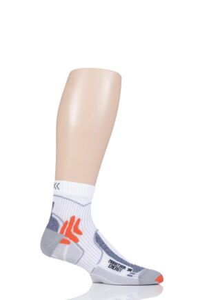 Mens and Ladies 1 Pair X-Socks Marathon Energy Compression Socks White/Orange 8-9.5 Unisex