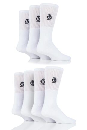 Mens 7 Pair Jeff Banks Cotton Sports Socks