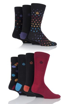 Jeff Banks Swindon Dots, Spots and Plain Cotton Socks
