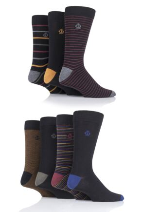 Mens 7 Pair Jeff Banks Stripes Cotton Socks