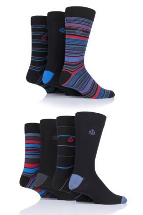 Mens 7 Pair Jeff Banks Hereford Stripes Cotton Socks